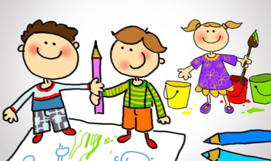 Obraz znaleziony dla: obrazki przedszkolne pomagamy sobie w przedszkolu
